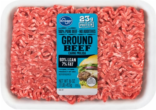 Kroger 93% Lean Ground Beef Perspective: front