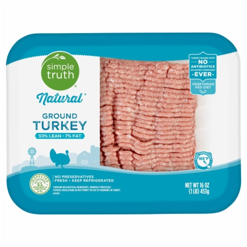 Simple Truth™ Natural 93% Lean Ground Turkey Perspective: front