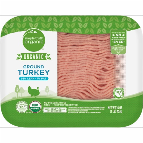 Simple Truth Organic™ 93% Lean Ground Turkey Perspective: front