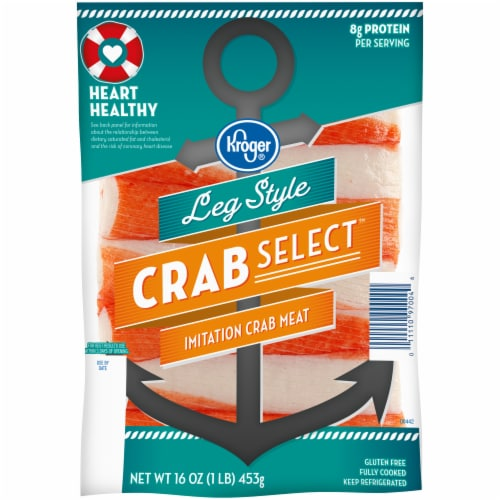 Kroger® Crab Select Leg Style Imitation Crab Meat Perspective: front