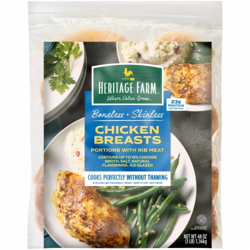 Heritage Farm® Boneless Skinless Chicken Breasts Perspective: front