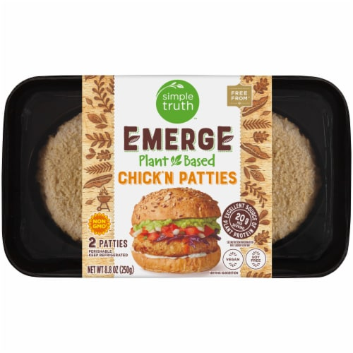 Simple Truth™ Emerge Plant-Based Chick'n Patties Perspective: front
