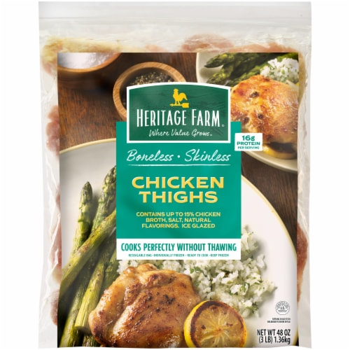 Heritage Farm™ Boneless Skinless Chicken Thighs Perspective: front