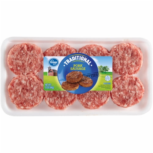 Kroger® Traditional Pork Sausage Patties Perspective: front