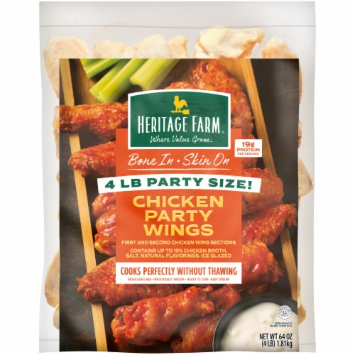 Heritage Farm® Bone In Chicken Party Wings Perspective: front
