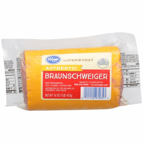 Kroger Authentic Braunschweiger Perspective: front