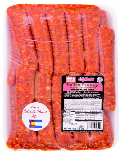 King Soopers City Market®  Italian Sausage Perspective: front