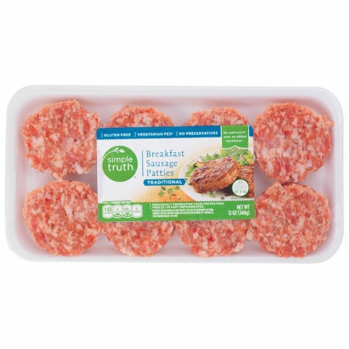 Simple Truth™ Traditional Breakfast Sausage Patties Perspective: front