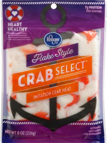 Kroger® Crab Select Flake Style Imitation Crab Meat Perspective: front