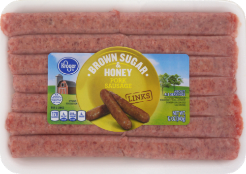 Kroger® Brown Sugar & Honey Pork Sausage Links Perspective: front