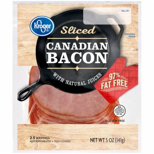 Kroger® Sliced Canadian Bacon Perspective: front
