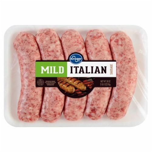 Kroger® Mild Italian Sausage Perspective: front