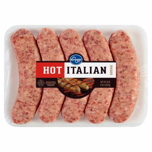 Kroger® Hot Italian Sausage Perspective: front