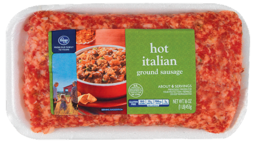 Kroger®  Hot Italian Ground Sausage Perspective: front
