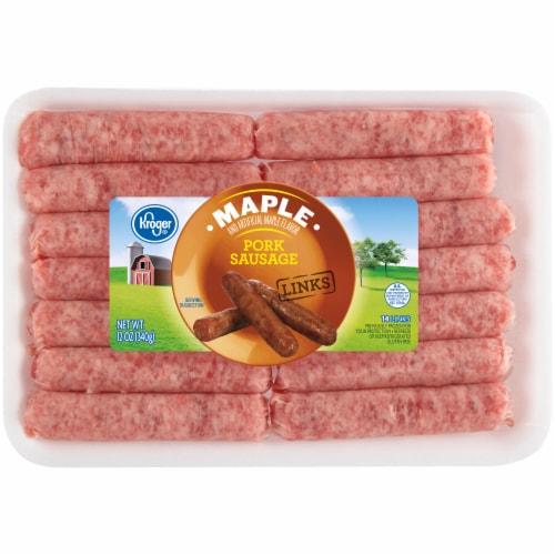 Kroger® Maple Flavored Pork Sausage Links Perspective: front