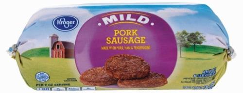 Kroger® Mild Pork Sausage Roll Perspective: front