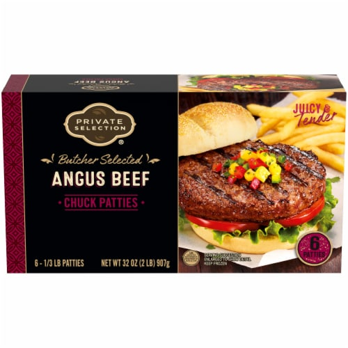 Private Selection™ Angus Beef Chuck Patties 6 Count Perspective: front