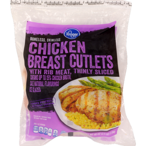 Kroger® Thinly Sliced Chicken Breast Cutlets Perspective: front