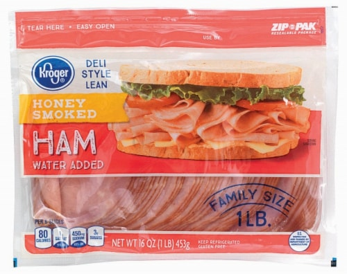 Kroger® Deli Style Smoked Honey Ham Perspective: front