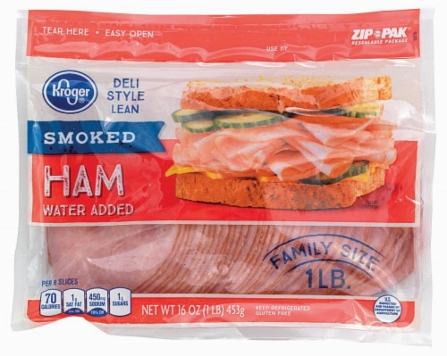 Kroger® Deli Style Smoked Ham Perspective: front