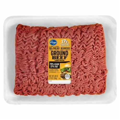 JBS 73% Lean Ground Beef Perspective: front