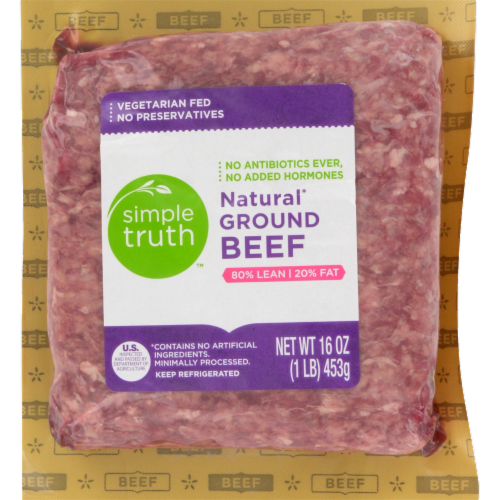 Simple Truth™ 80% Lean Natural Ground Beef Perspective: front