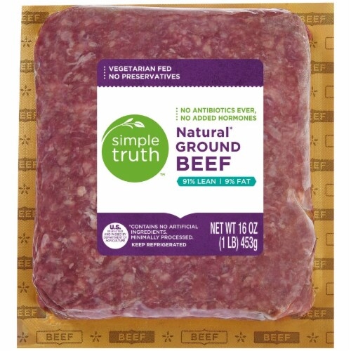 Simple Truth™ 91% Lean Natural Ground Beef Perspective: front