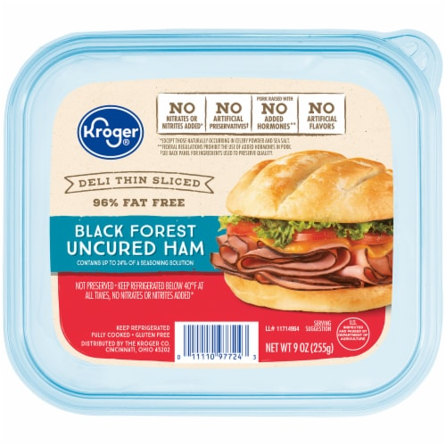 Kroger® Deli Thin Sliced Black Forest Ham Lunch Meat Perspective: front