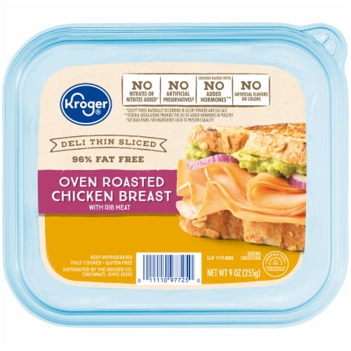 Kroger® Deli Thin Sliced Gluten Free Oven Roasted Chicken Breast Perspective: front