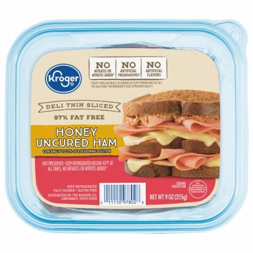 Kroger® Deli Thin Sliced Honey Uncured Ham Perspective: front