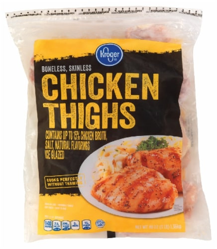 Kroger® Boneless Skinless Chicken Thighs Perspective: front