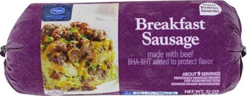 Kroger® Breakfast Sausage Made with Beef Perspective: front