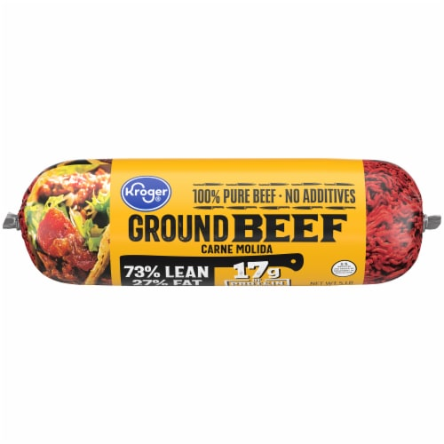 Kroger® 73% Lean Ground Beef Perspective: front