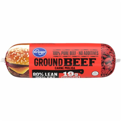 Kroger® 80% Lean Ground Beef Perspective: front