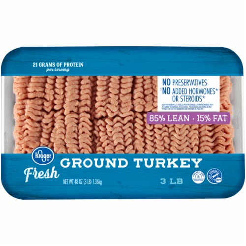 Kroger® 85% Lean Fresh Ground Turkey Perspective: front