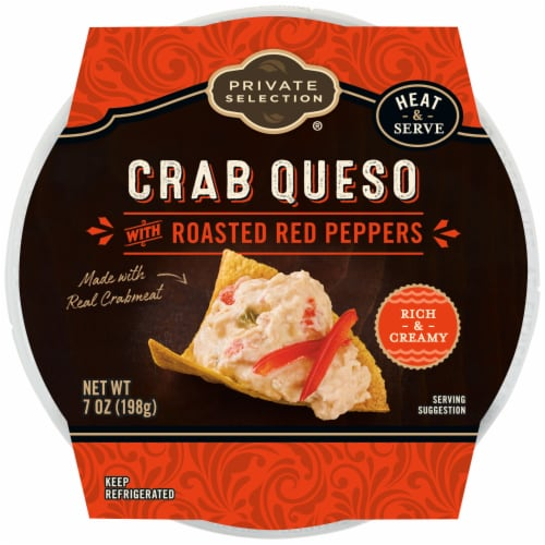 Private Selection® Crab Queso Dip with Roasted Red Peppers Perspective: front