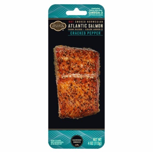 Private Selection® Cracked Pepper Smoked Norwegian Atlantic Salmon Perspective: front