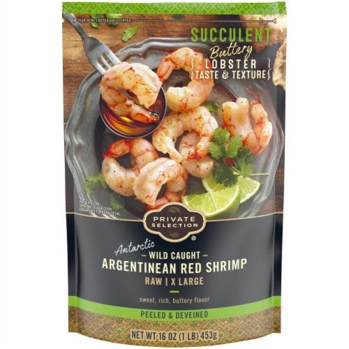Private Selection® Wild Caught Argentinian Raw Extra Large Peeled & Deveined Shrimp Perspective: front