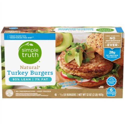 Simple Truth® Natural Turkey Burgers Perspective: front