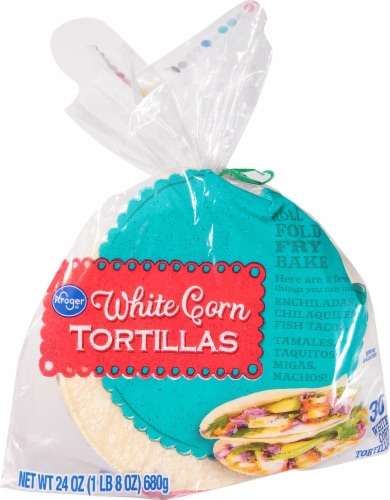 Kroger® White Corn Tortillas Perspective: front