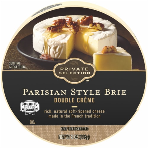 Private Selection™ Parisian Style Double Creme Brie Perspective: front