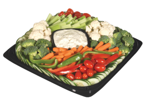 Deli Fresh Vegetable Tray Perspective: front