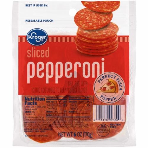 Kroger® Sliced Pepperoni Perspective: front