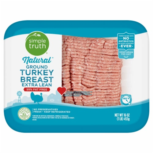 Simple Truth™ 99% Lean Natural Ground Turkey Breast Perspective: front