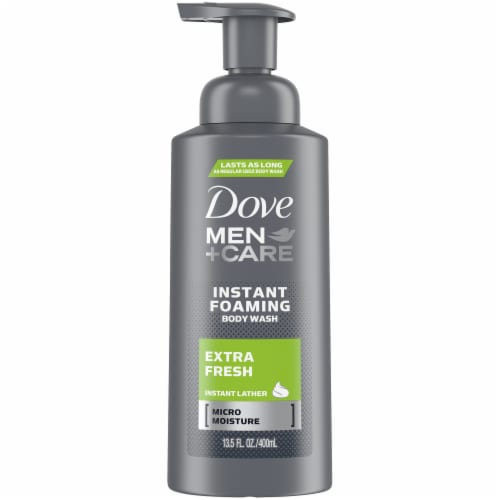 Dove Men+Care Extra Fresh Foaming Body Wash Perspective: front