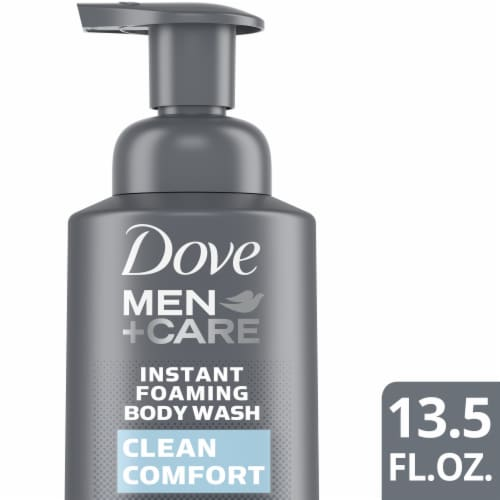 Dove Men + Care Clean Comfort Nutrium Moisture Foaming Body Wash Perspective: front
