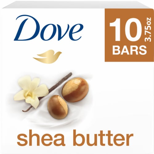 Dove Purely Pampering Shea Butter Bath Bars Perspective: front