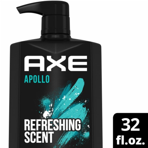 Axe Apollo Sage & Cedarwood Scent Clean + Fresh Body Wash Perspective: front