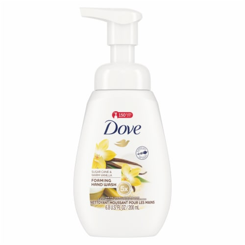 Dove Sugar Cane & Warm Vanilla Foaming Hand Wash Perspective: front