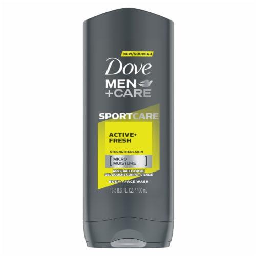 Dove Men + Care SportCare Active + Fresh Body Wash Perspective: front